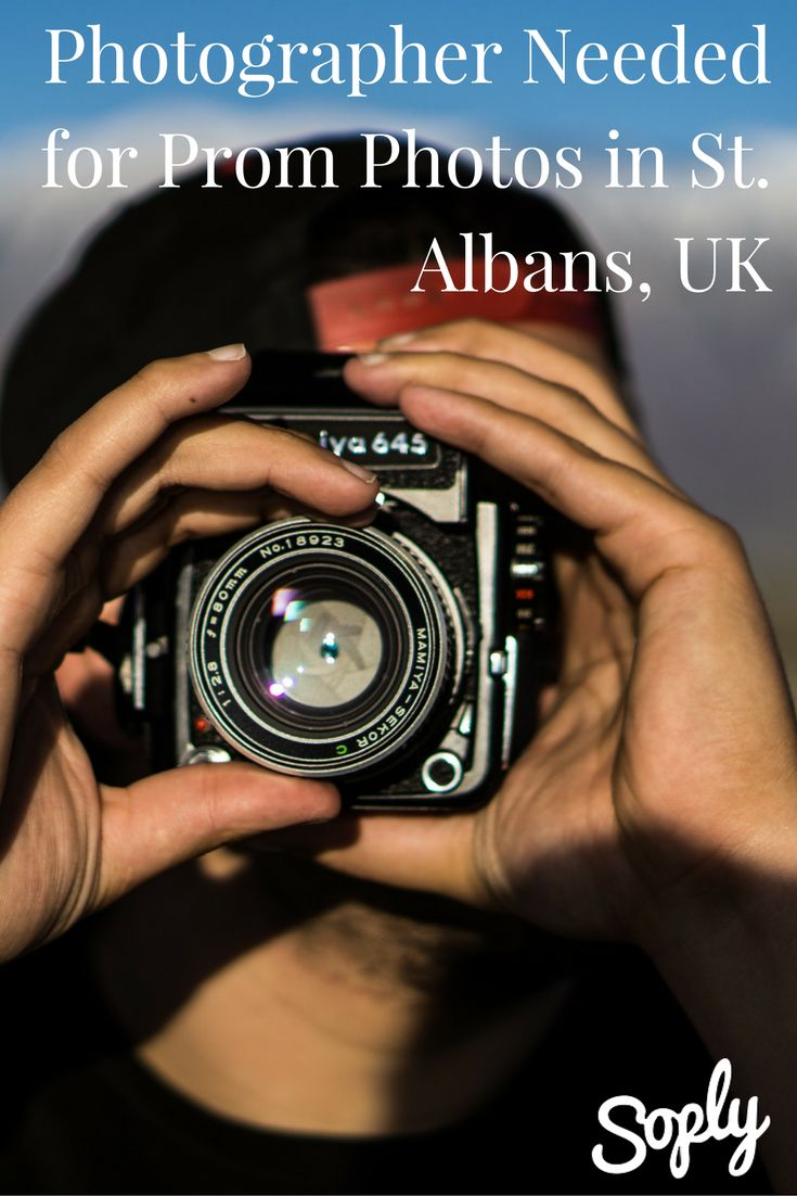 Photographer needed for prom photos in St. Albans, UK. See more info by clicking the pin!