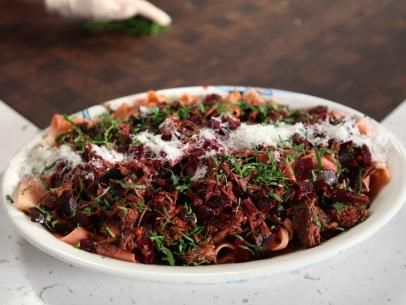 Beef and Beet Ragu with Pappardelle Recipe | Rachael Ray | Food Network