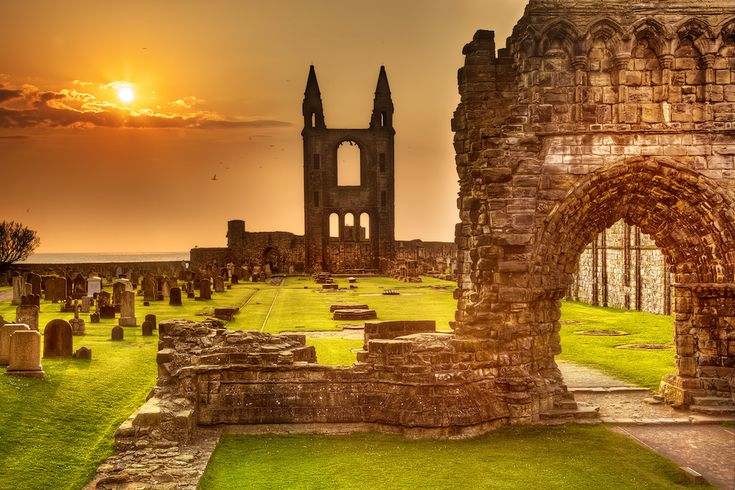 St. Andrews Cathedral Ruins Scotland    This was such a beautiful place to visit - summer 1979 when I went.
