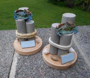 nautical wedding theme | Handcrafted Nautical Wedding Centerpieces - Personalized Beach Theme