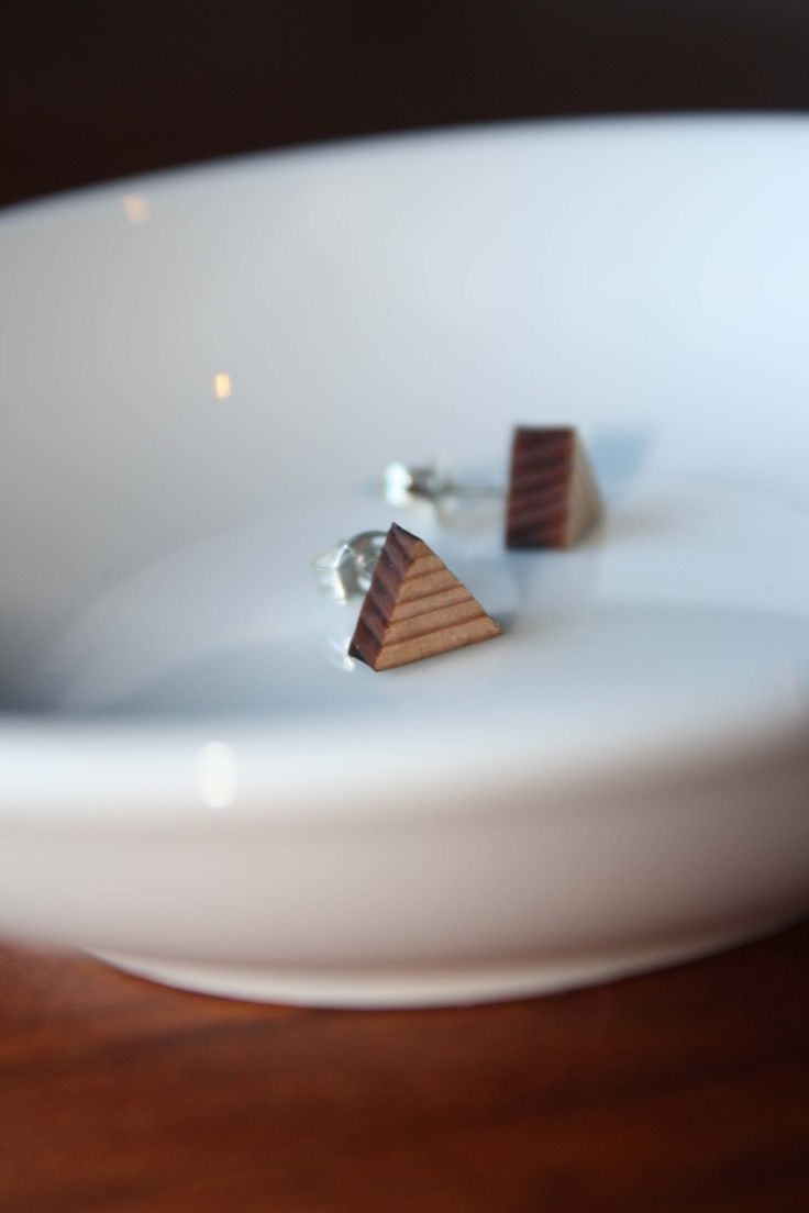 Wooden triangle studs - $15