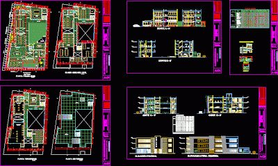 Planı Autocad toplum merkezi