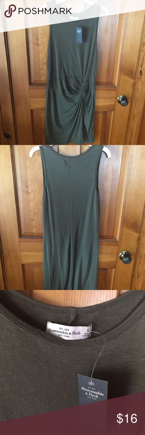 Abercrombie and Fitch tight knot dress Green dress, can dress up or down, never …