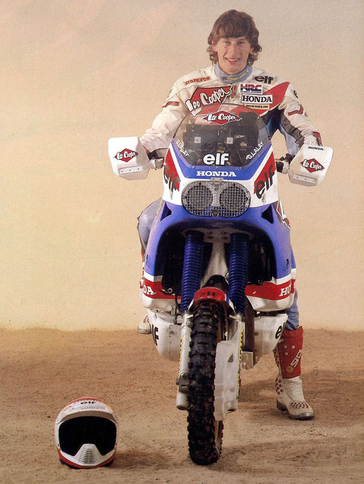 gilles lalay paris dakar 1988 dirt bikes pinterest. Black Bedroom Furniture Sets. Home Design Ideas