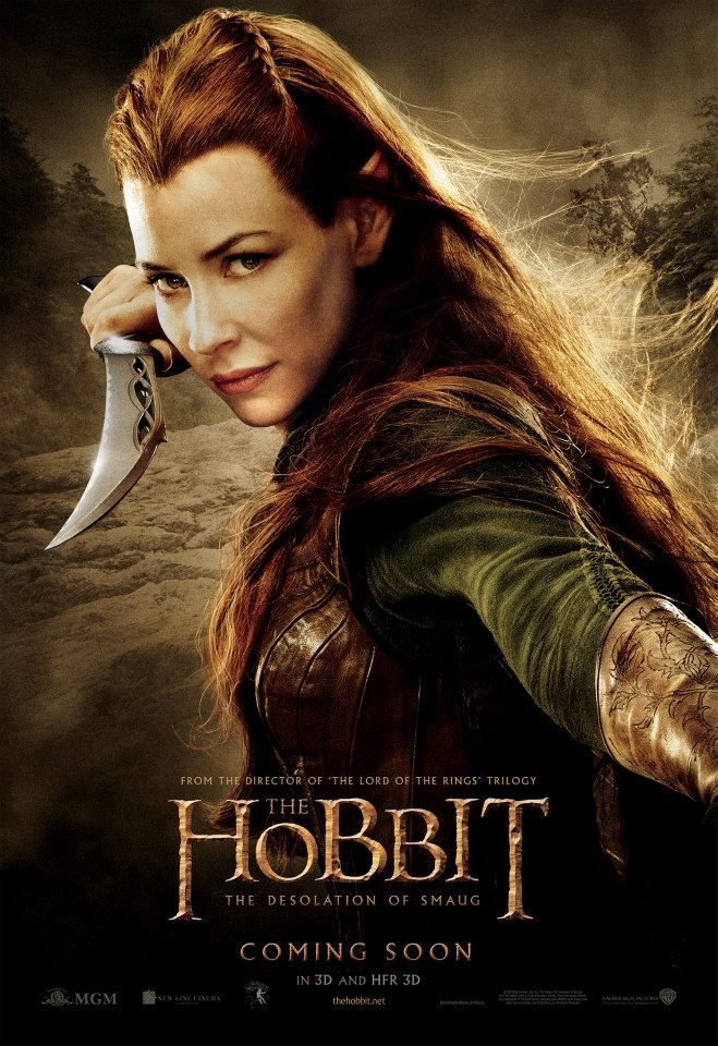 Evangeline Lily is Tauriel in THE HOBBIT: THE DESOLATION OF SMAUG in cinemas December 12.