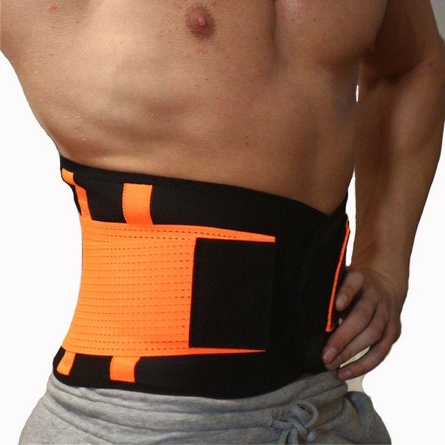 Adjustable Mens Slimming Belt Workout Waist Trimmer Support Lower Back /& Lumbar