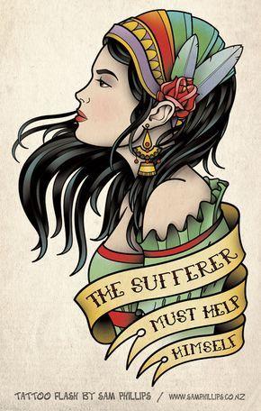 Traditional Modern Gypsy Tatt by Sam-Phillips-NZ.deviantart.com on @deviantART
