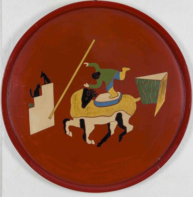 Pippo Rizzo, vassoio dipinto ad olio