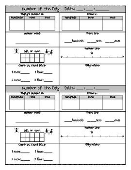 Number of the Day Worksheets - EnchantedLearning.com