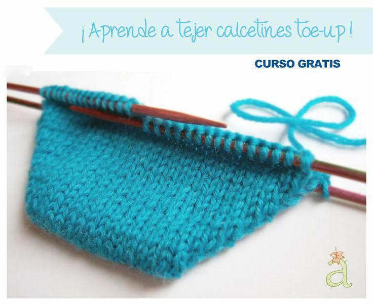 Aprende a tejer calcetines yo me apunto tejer - Como hacer calcetines de lana ...