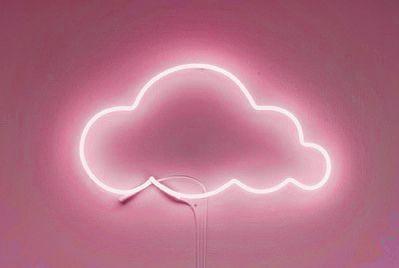 Pink neon cloud
