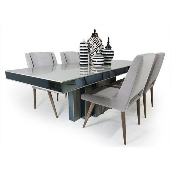 1000 Ideas About Gray Dining Tables On Pinterest