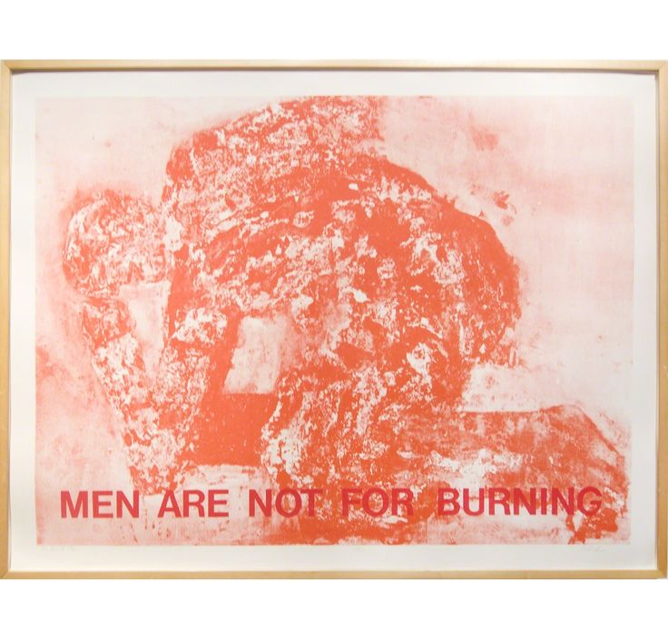 LEON GOLUB Men Are Not For Burning, 1961-1962 Silkscreen 34 1/2 × 46 in 87.6 × 116.8 cm