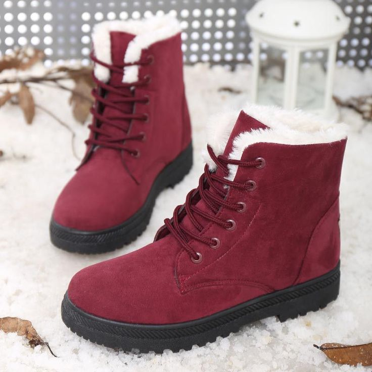 Women Shoes Winter Boots Snow Boots Winter 2016 Fashion Heels Ankle Boots Women Shoes Plus Size Shoes Black Red Snow Boots XW-19 //Price: $US $24.65 & FREE Shipping //     #bags