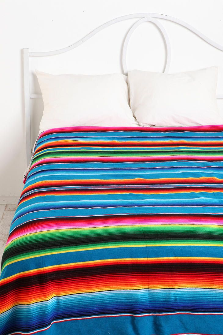 Serape Striped Blanket Mexican Blankets Blankets And