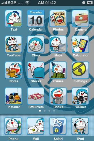 cool Doraemon iphone theme