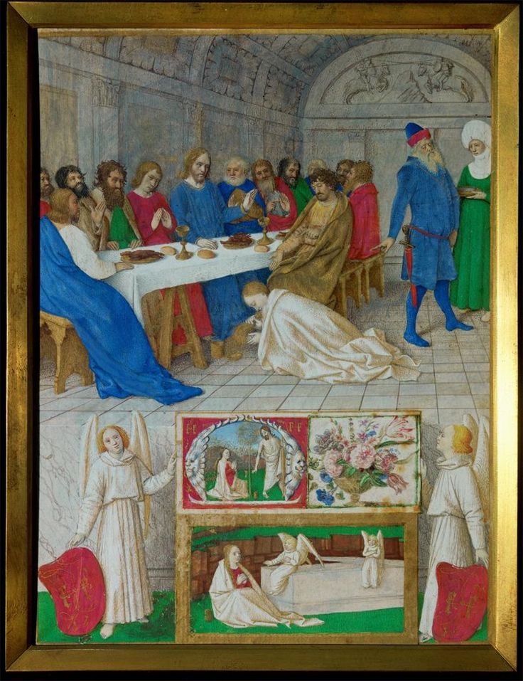 Jean Fouquet, Mary Magdalene at the Feast of Simon