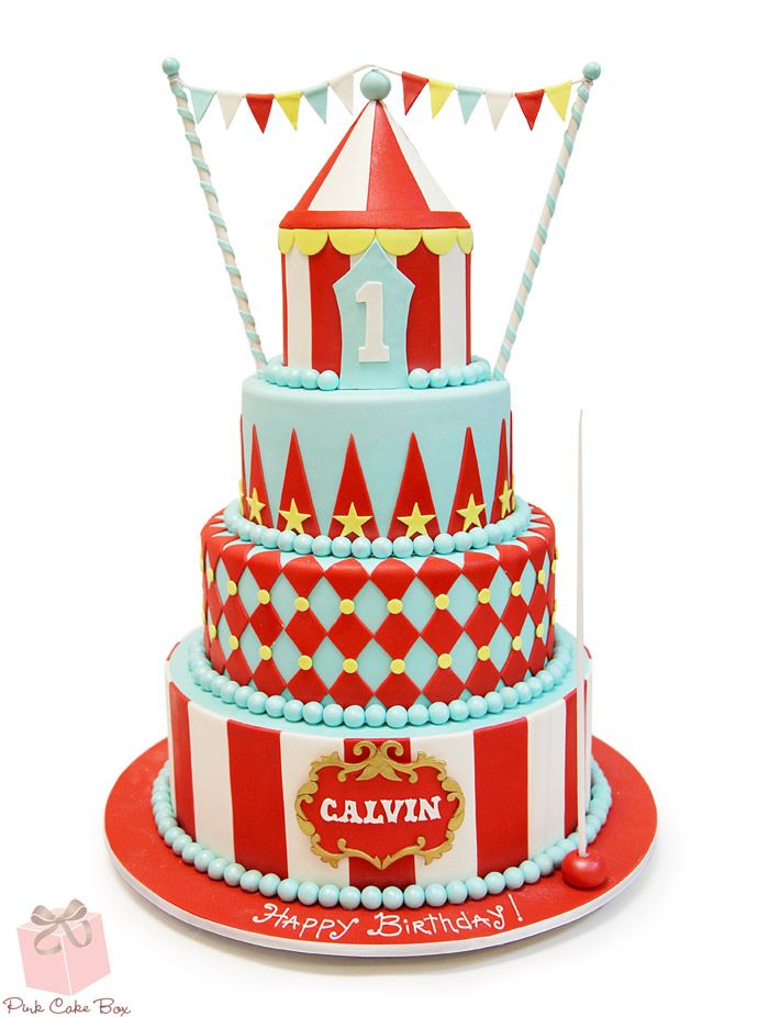 Calvin celebrated his 1st birthday with this circus themed cake. Happy Birthday Calvin!