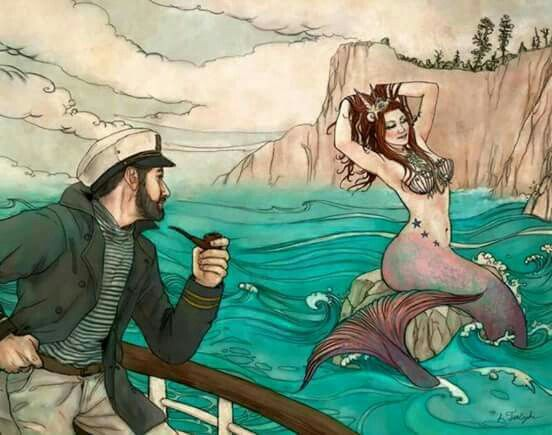 Ahah!! Haven't had a drink all day and thatz a real Mermaid