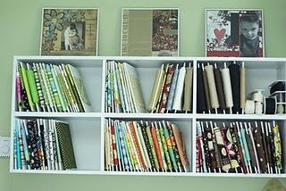 Cut up foam core to store fabric - is this cheaper than those comic book boards?: Sewing Room, Fabric Storage, Green Bean, Storage Idea, Craftroom