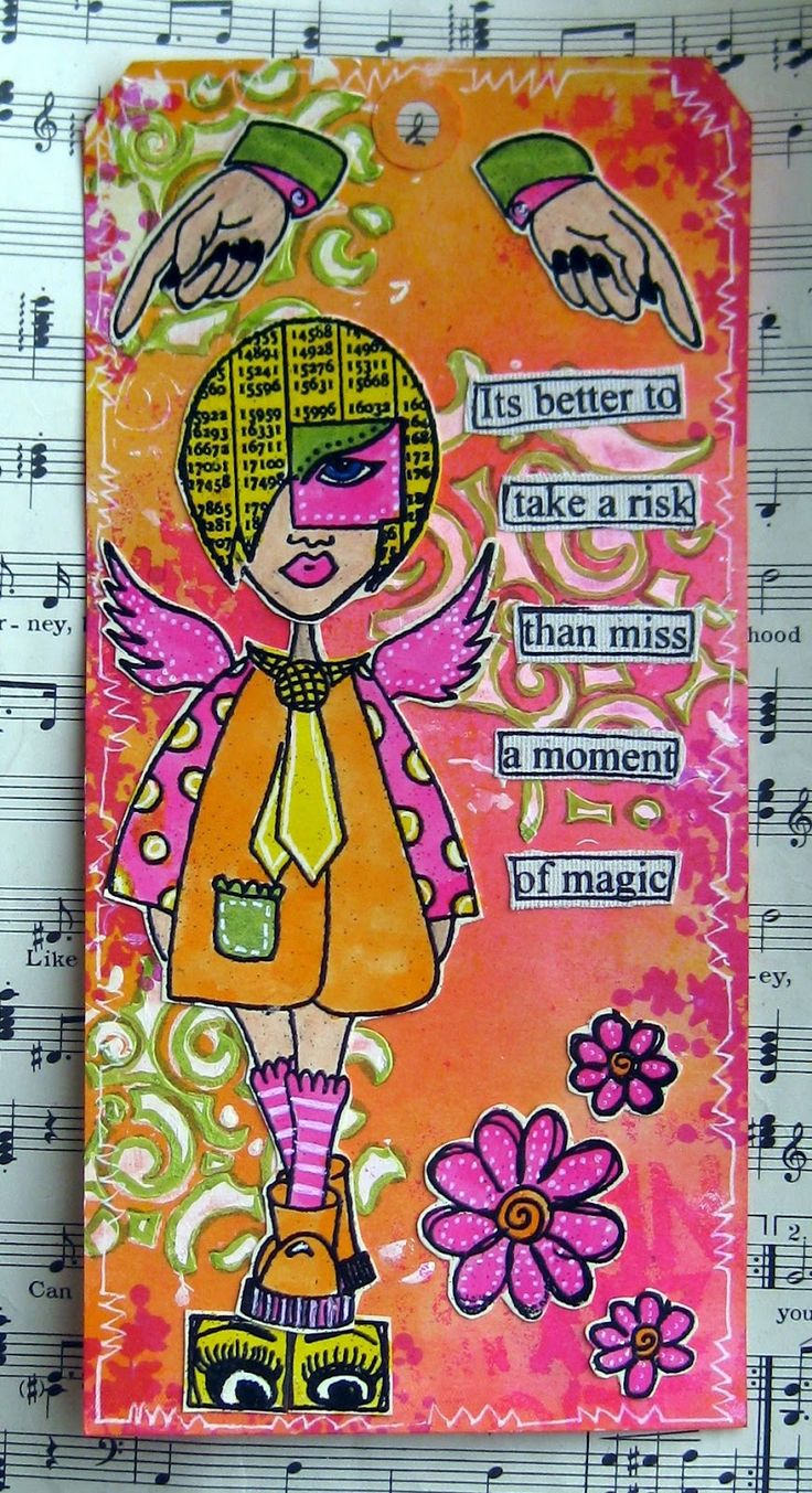 Dyan Reaveley tag art | this is the last dylusions tags for today the three tags are very ...