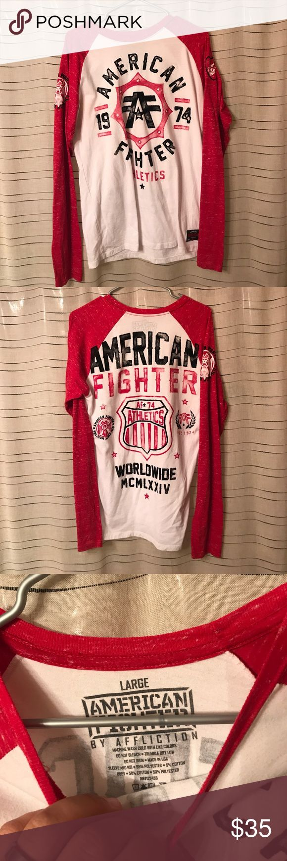 American fighter long sleeve Size large in euc American Fighter Shirts Tees - Long Sleeve