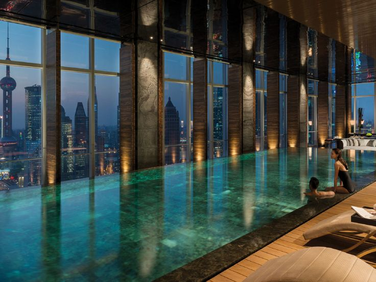Four seasons shangai chine piscine piscine int rieure for Hotel avec piscine interieur