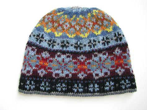 Electric Snow Fair Isle Hat by Don Godec... my dad's pattern!
