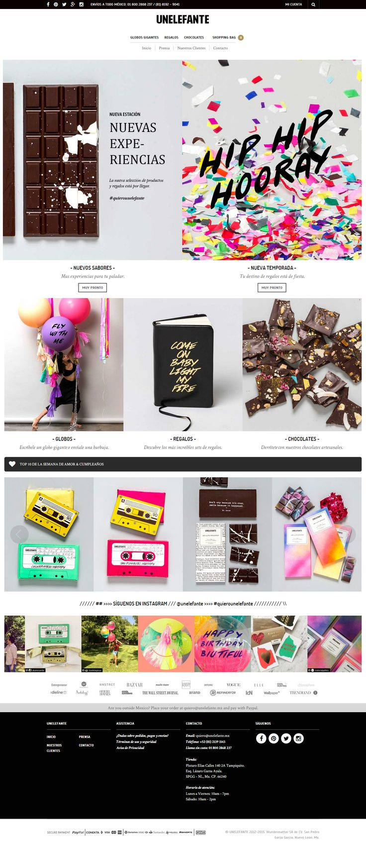 unelefante.mx was built using The Retailer WP Theme https://themeforest.net/item/the-retailer-responsive-wordpress-theme/4287447?utm_source=pinterest.com&utm_medium=social&utm_content=unelefante&utm_campaign=showcase  #wordpress #webdesign #onlineshop #gifts #chocolate