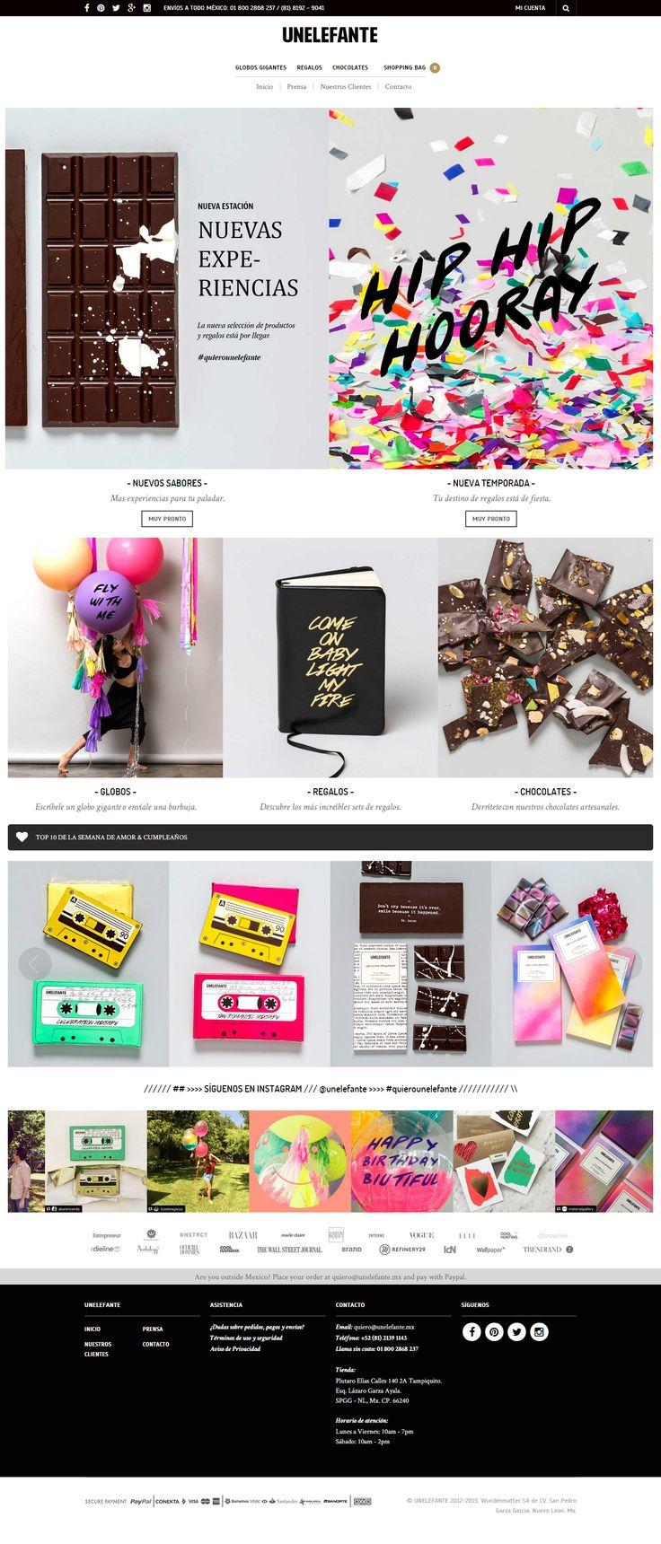 unelefante.mx was built using The Retailer WP Theme https://themeforest.net/item/the-retailer-responsive-wordpress-theme/4287447?utm_source=pinterest.com&utm_medium=social&utm_content=unelefante&utm_campaign=showcase  #wordpress #webdesign #onlineshop #gifts #chocolate