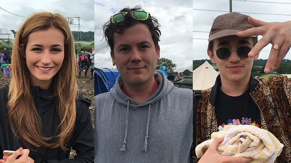 We asked festival-goers at Glastonbury their reaction to Brexit