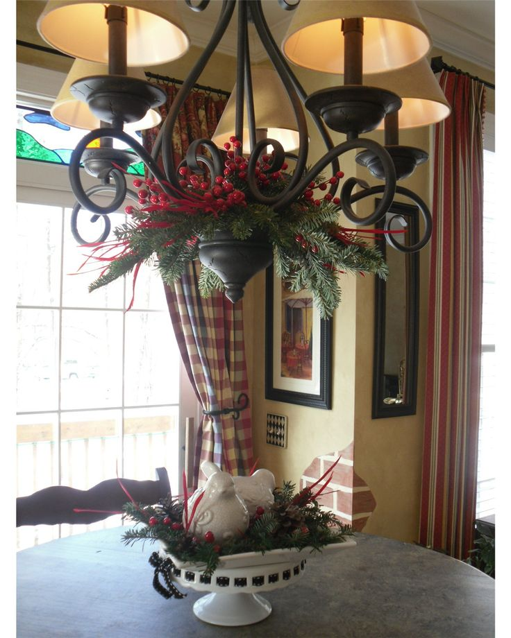 Dining Room Chandelier Christmas Decor