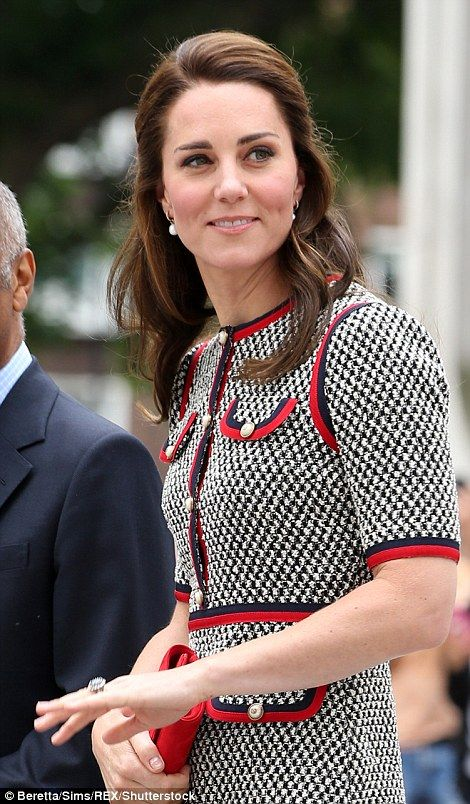 dailymail: V & A Museum Road Quarter Opening, June 29, 2017-The Duchess of Cambridge