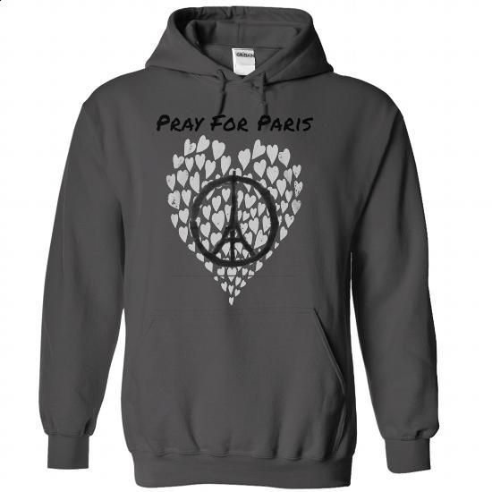 Pray for Paris - #shirt print #tshirt necklace. ORDER HERE => https://www.sunfrog.com/LifeStyle/Pray-for-Paris-8137-Charcoal-Hoodie.html?68278