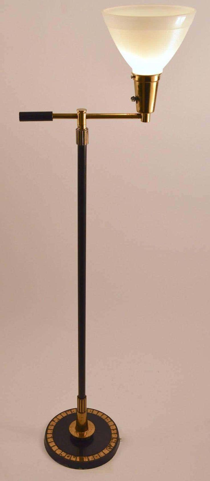 Stiffel Metal MidCentury Modern American Floor Lamp