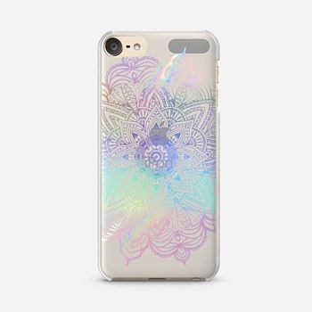 iPod Touch 6 Case Rainbow Holographic Mandala Lace Explosion