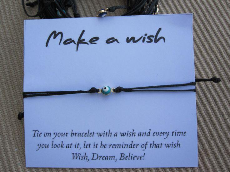 Make a wish Bracelet - Friendship Bracelet with evil eye by MykonosByBoni on Etsy
