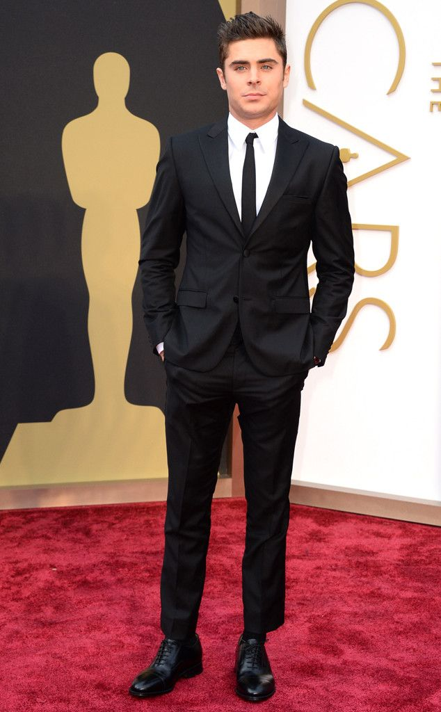a perfect Calvin Klein model is the famous Zac Efron from 2014 Oscars Red Carpet Arrivals | E! Online