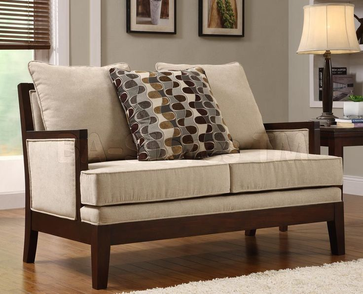 Attractive Minimal Design Sofa Set Designs Brown Color With Wood Part 60