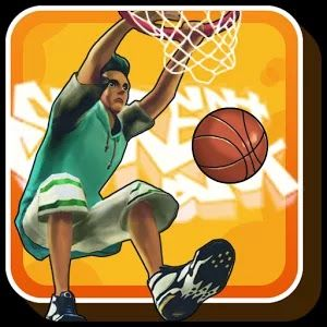 "Street Dunk 3 on 3 Basketball Are you disappointed there is no enjoyable mobile basketball game? Don't worry.  Now you can play a real basketball game, ""Street Dunk"", where you can try strategic team play, powerful slam dunks and enjoy free style basketball.  With a simple control, 'Street Dunk"" can be a real fun game to play in mobile."