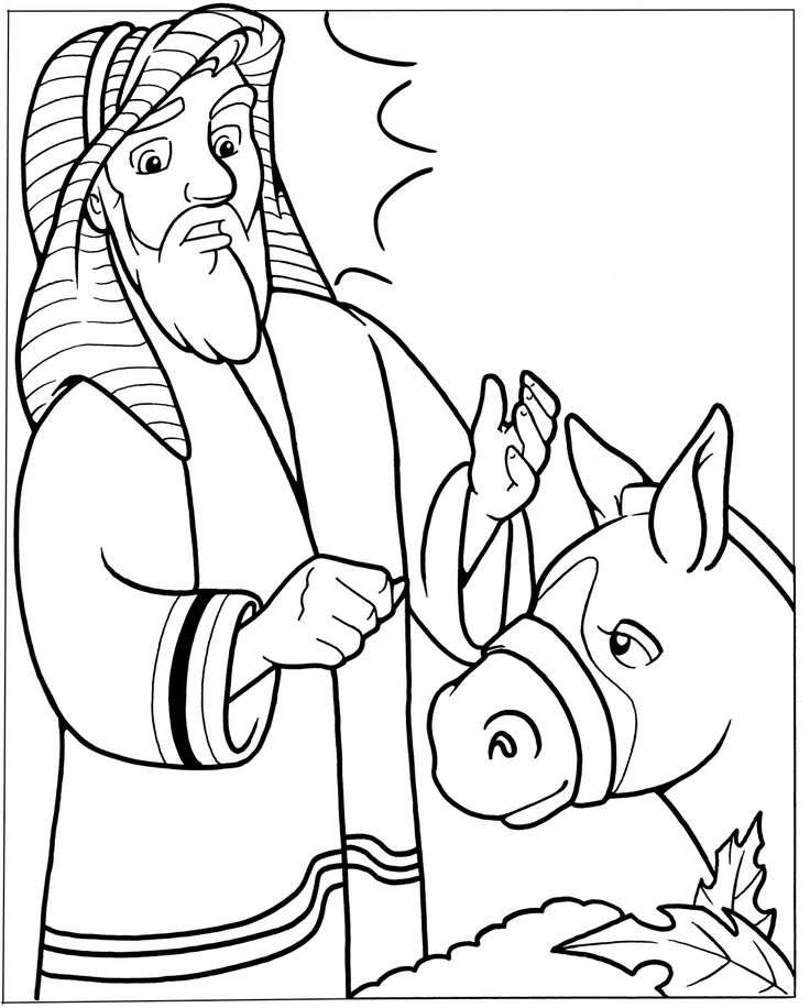 bible talking donkey coloring pages - photo#4