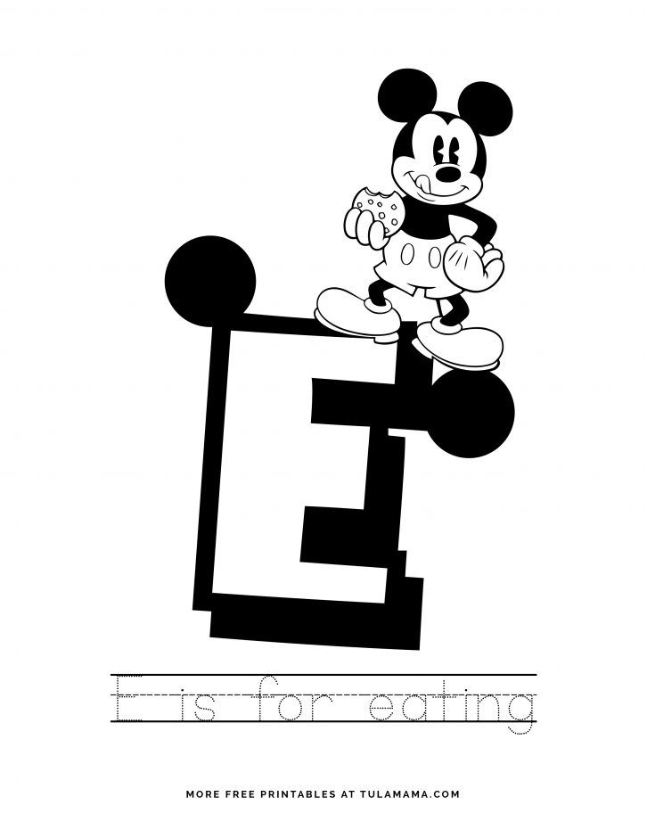 Free Printable Mickey Mouse Abc Letter Tracing For Preschoolers Mickey Mouse Abc Abc Coloring Pages Abc Coloring