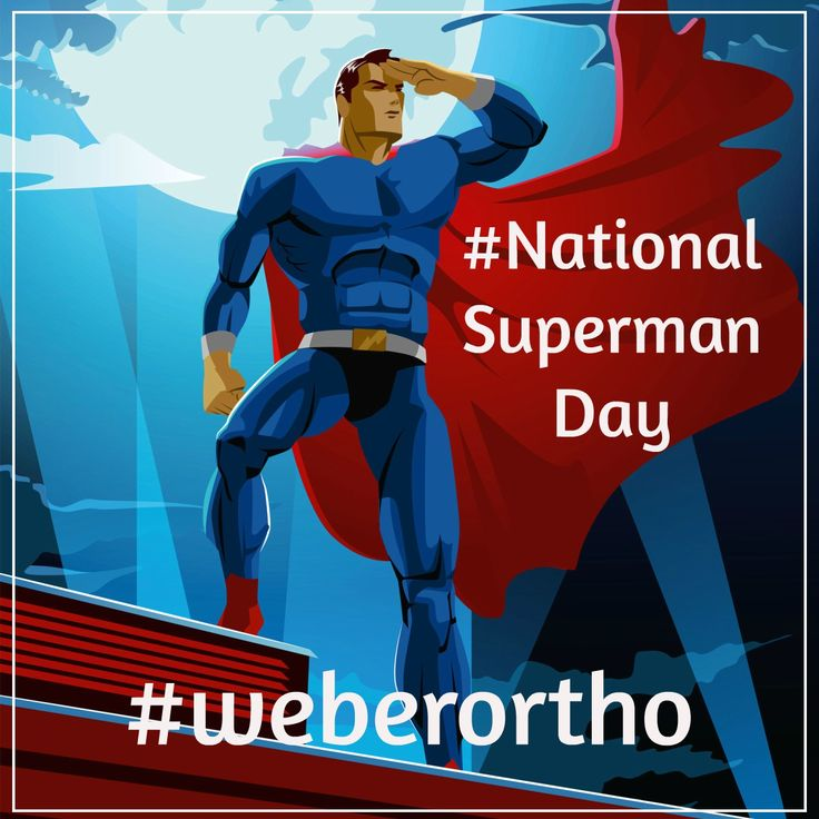It's a #SUPER day here at #weberortho #nationalsupermanday