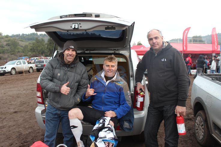 Francisco Soublette, Alberto Rochet y Jorge Ruddoff. Primera fecha Campeonato Nacional FIM Curicó/ Romeral. 23 de junio de 2013