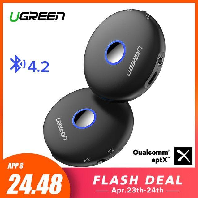 Ugreen Bluetooth Transmitter 4.2 Wireless Audio Music Adapter APTX Fr Headset TV