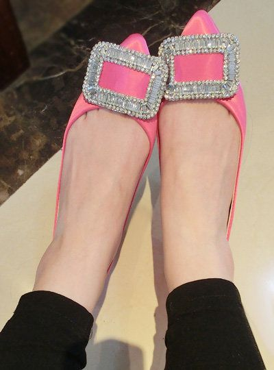 Zapatos Mujer Sapatilhas 2016 Весной ОЛ Острым Носом Квартиры женщин Вскользь Женщин Обувь Принцесса Розовые Туфли Оптом