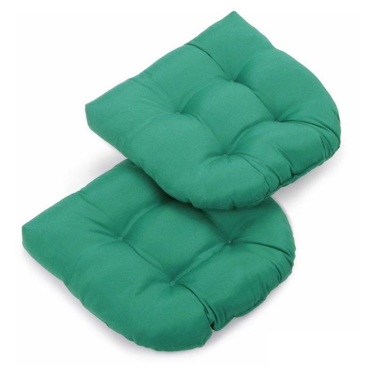 Blazing Needles Twill U Shaped Indoor Chair Cushion   Set Of 2    93184 2CH TW AB