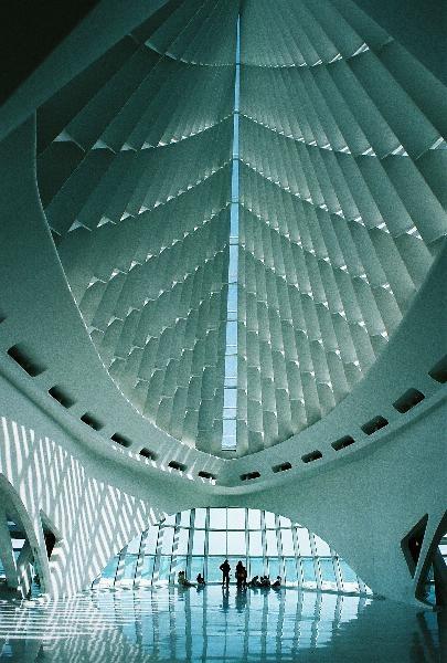 Inside the Milwaukee Art Museum. Looks very futuristic. WI, USA - Transformers3 scene