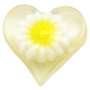 cristinnecosmetics.ro Sapun figurina inima cu margareta alba, 30 g, cod 77610