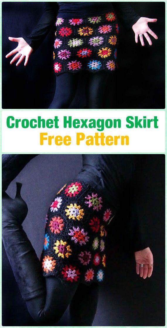 Crochet Hexagon Skirt Free Pattern - Crochet Women Skirt Free Patterns